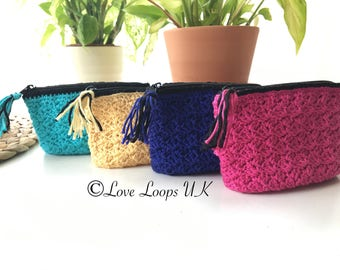 Small crochet bag,small purse, small coin purse,crochet coin purse, coin bag, crochet purse, pink purse,turquoise purse,yellow purse, gift