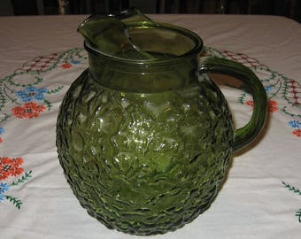 Lido green pitcher made by Anchor Hocking