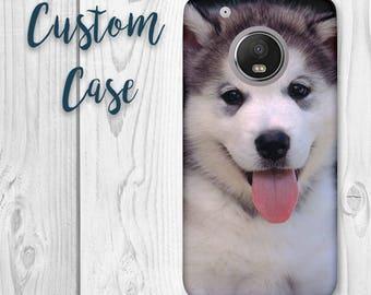 Motorola Moto G5 Plus - Moto G5 + Case #Custom Photo Case, Design Your Own Personalized Case, Monogrammed Phone