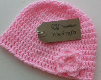 Baby Beanie hat,girl,gift,present,baby shower,pink