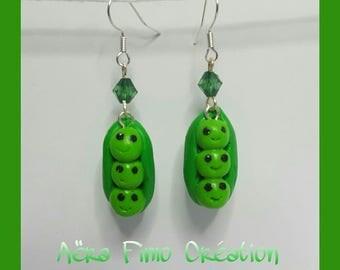 """Earring """"vegetable pea kawaii"""""""