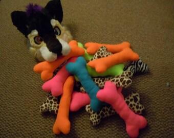 Pink Dog Bone Prop w/ Squeaker