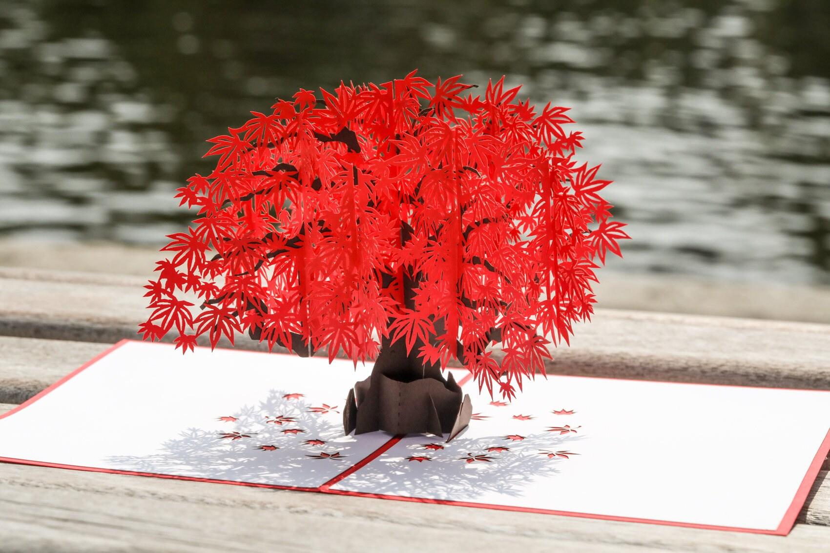 Japanese Maple Pop Up Card Japanese Maple Tree 3d Pop Up
