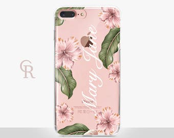 Personalized iPhone 7 Plus Clear Phone Case - For iPhone 8 - iPhone X - iPhone 7 Plus - iPhone 6 - iPhone 6S - iPhone SE Transparent