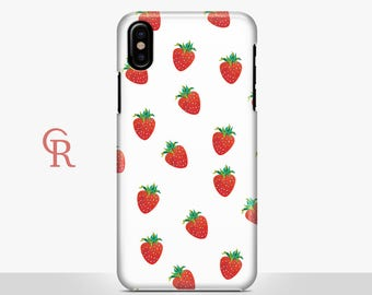 Strawberry iPhone X Case For iPhone 8 iPhone 8 Plus - iPhone X - iPhone 7 Plus - iPhone 6 - iPhone 6S - iPhone SE - Samsung S8 - iPhone 5