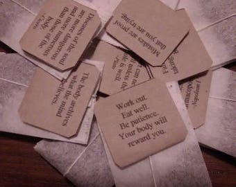 Box of 20 Individually Tagged Teabags with Inspiring Messages for Mothers