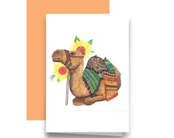 Calming camel | Camel painting | Colourful | Watercolour | Art | Painting | Print | Home decor | Animal