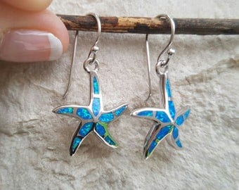 "Sterling silver ""starfish"" earrings"