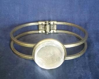 Crystal Selenite Healing Bracelet // Meditation Bracelet // New Age Jewelry // Full Moon Crystal Bracelet // White Selenite Gemstone