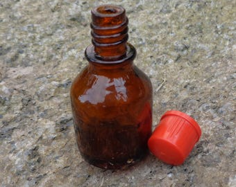 Glass pill bottles etsy for Small pill bottles