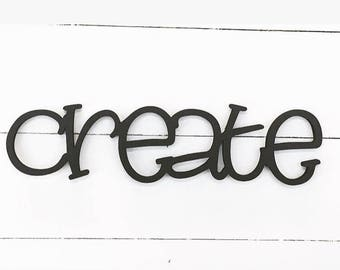 Create Wooden Wall Word Sign, Wooden Word, Wooden Words, Wooden Wood Art,