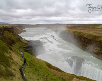 Iceland Golden Circle Gulfoss Photography Print