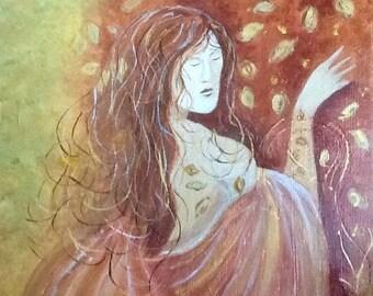 Spirit of autumn - acrylic on canvas 40 x 40