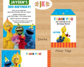 Sesame Street Birthday Invitations Any Age and more... DIGITAL FILE (S) UPRINT