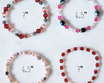 Unique, glass beaded elasticated bracelet - assorted designs/various sizes Active