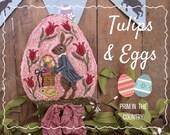 Tulips & Eggs Punch Needle Pattern