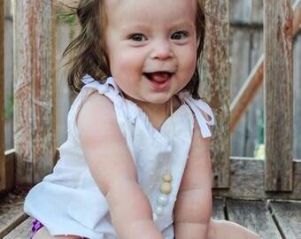 baby girl toddler top // pillowcase top // spring summer top