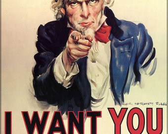 Poster, Many Sizes Available; Uncle Sam I Want You For Us Army