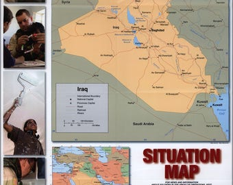 Poster, Many Sizes Available; Iraq, Situation Map Us Army 2004