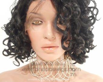 Short Curly bob Lace front wig rihanna bob Bridal hair wig Lace Front wig Nicki Minaj wig Kardashian lace front wig drag queen lace wig