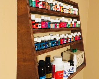 Essential Oil Shelf, angled shelf, make up, oil, storage, organizer, entry, bathroon, floating, bedroom