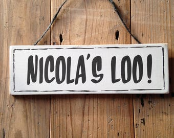 Personalised Loo Sign