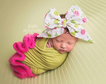 PINEAPPLE PARTY Gorgeous Wrap- headwrap; fabric head wrap; head wrap; newborn headband; baby headband; toddler headband, hair bow
