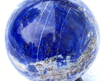 Deep Blue Lapis Lazuli Sphere 56mm (Madani 326grs)