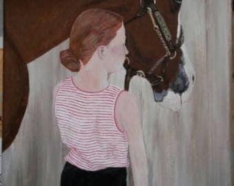 8x16 Custom Oil or Acrylic Painting Art Portrait