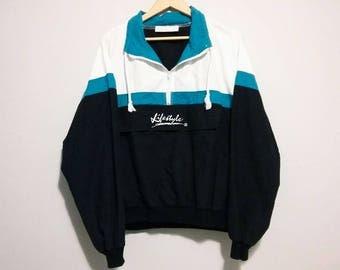 Vintage Lifestyles Jacket Pullover Light Activewear Size Large