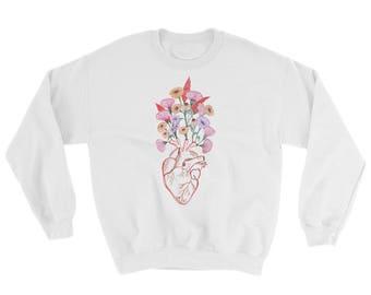 Anatomy Floral Heart Sweatshirt