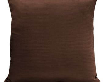 Chocolate Brown Pillow Cover, Decorative Throw Pillow Cover, Cushion Cover, Pillowcase, Accent Pillow, Toss Pillow, Satin Blend, Couch Decor