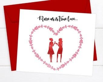 Valentines Day Card, Friendship Valentines Card, Friend Valentines, Valentines  Day Gift, Galentines