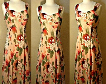 Women's dress, floral dress, Hawaiian dress, beach dress, maxi dress, long dress, summer dress, tea dress, Aloha, Island, mermaid dress