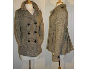 Women's coat, women's jacket, women's pea coat, ladies coat, vintage coat, business, professional, prep, collegiate, wool blend coat   L