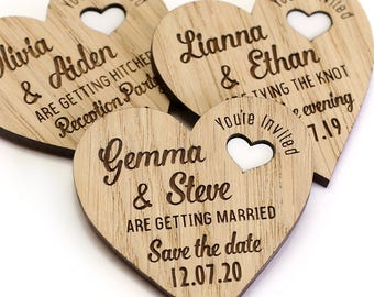 Wood Wedding Save the Date Magnet, Wooden Wedding Magnets, Rustic Save the Date, Wedding Invites, Save the Date Wood, Rustic Wedding