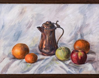Still life with copper coffeepot