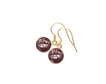 Gaia Burgundy PM earrings