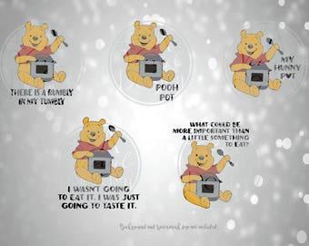 Winnie the Pooh Instant Pot 4 Color Vinyl Decal