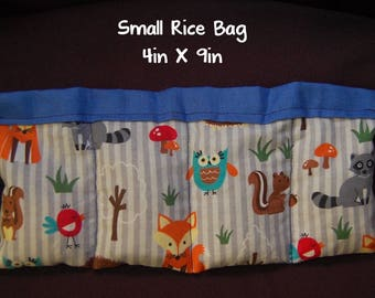 Fox and Friends Rice Bag; Medium Booboo; 6 x 10; Heat Or Cold Therapy; Freezable; Boo Boo Rice Bag; Natural Migraine Help
