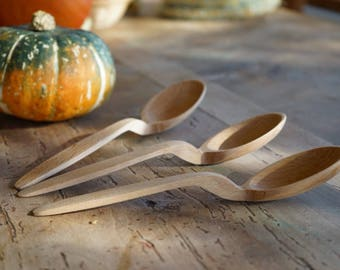 Handmade wooden spoon from Carpathian Mountains.