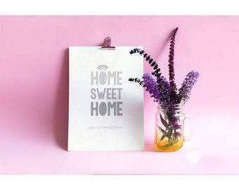 WIFI code - home sweet home A4 print - home decor