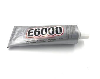 E6000 Glue - LARGE BOTTLE - Jewelry Glue - craft glue - cement - clear jewelry making glue - string glue 3.7 oz