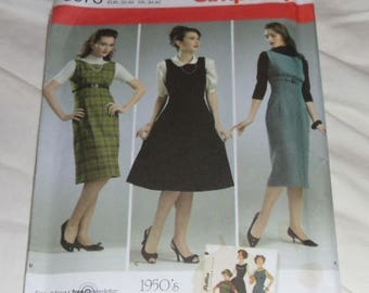 Simplicity Pattern #3673 Size 6-14 Vintage 1950s Retro Look Jumpers Uncut & Unused