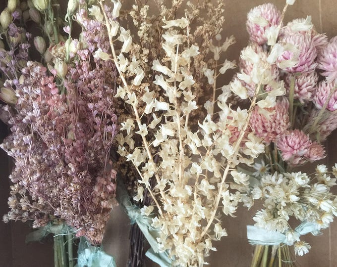 Bloomery Blend No. 0010: Mixed Natural Mini Flower Bunches / Pink - Natural White