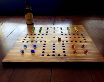 Wahoo, Aggravation game board.  Large, Square Wahoo board.  4 player Wahoo.  Marble game.