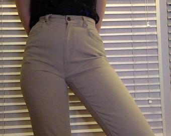"""Vintage Original Liz Claiborne Beige/Tan Pants // small // 26"""" // 90s // ORIGINAL LIZWEAR JEANS"""