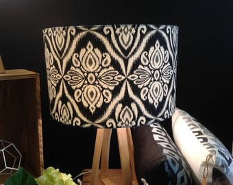 Drum lampshade 40cm, gorgeous IKAT fabric, handmade in Australia