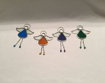 Stained glass Angels, set of four