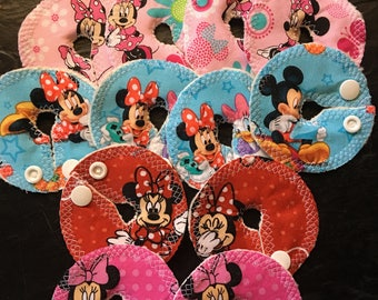 Bamboo back G-tube pads-Minnie mouse